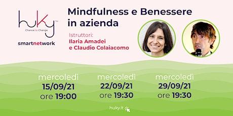 Mindfulness e Benessere in Azienda biglietti