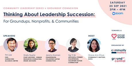 Thinking About Leadership Succession: Groundups, Nonprofits & Communities tickets