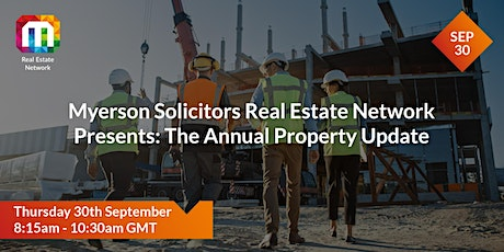 Myerson Solicitors Real Estate Network Presents: The Annual Property Update tickets