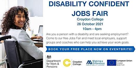 Disability Confident Jobs Fair  at Croydon College tickets