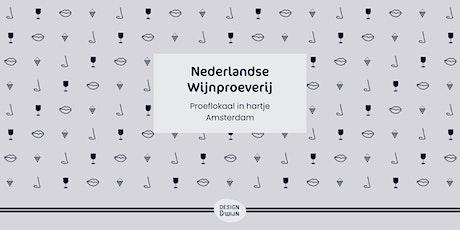 Nederlandse wijn proeverij bij Design & Wijn Damrak 59 in hartje Amsterdam tickets
