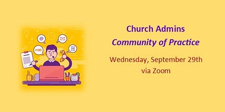 Church Admins Community of Practice - Sept. 2021 boletos