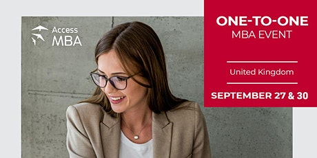 Access MBA hybrid event - face-to-face or online in the UK! tickets
