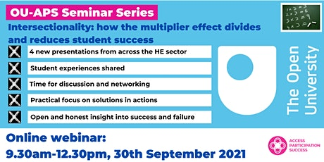 OU-APS Seminar: Intersectionality - how the multiplier effect  ...  success tickets