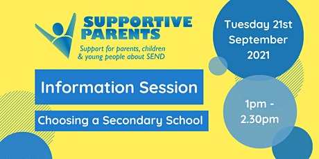 North Somerset Information Session: Choosing a Secondary School tickets