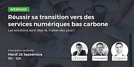 Webinar : Réussir sa transition vers des services numériques bas carbone billets