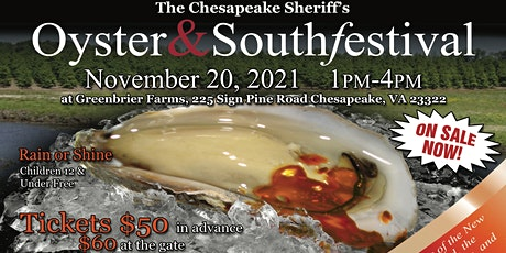 The Chesapeake Sheriff's Oyster and South Festival tickets