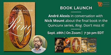 Ring Book Launch: In conversation with André Alexis and Nick Mount tickets