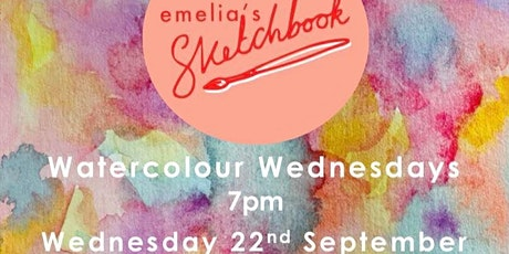 Watercolour Wednesdays with Emelia's Sketchbook tickets