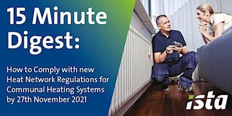 Heat Network Regulations - November Deadline Approaching tickets