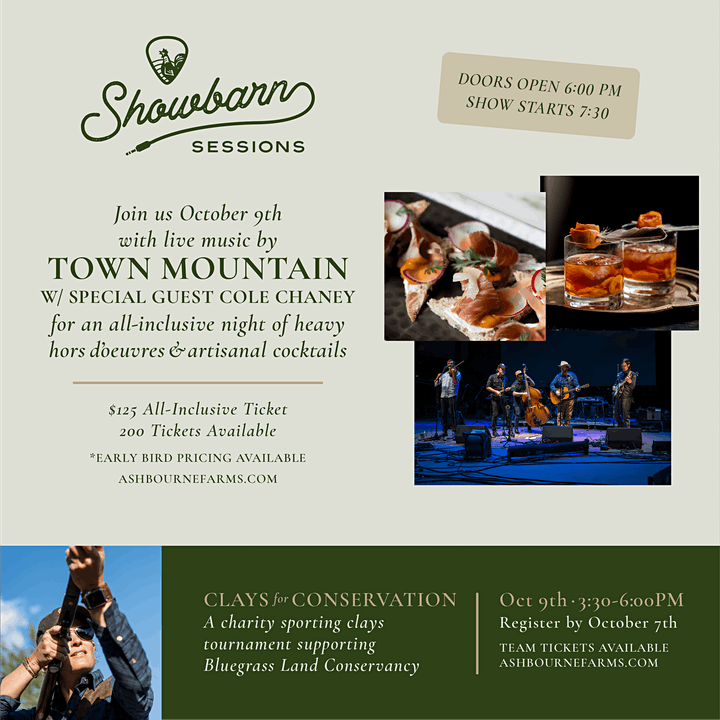 Showbarn Sessions Featuring Town Mountain & Cole Chaney image