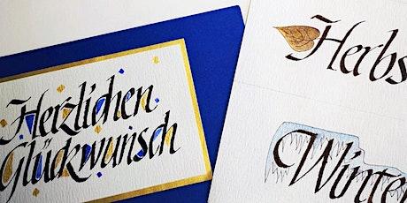 Kalligrafie-Grundkurs mit Karin Günther | Workshop Tickets