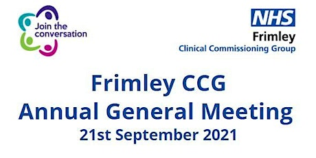 Frimley Clinical Commissioning Group Annual General Meeting tickets