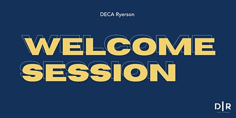 Welcome Session tickets
