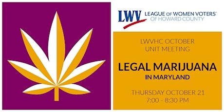 Legal Marijuana in Maryland tickets