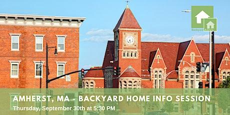 Amherst, MA: Backyard Home Info Session tickets