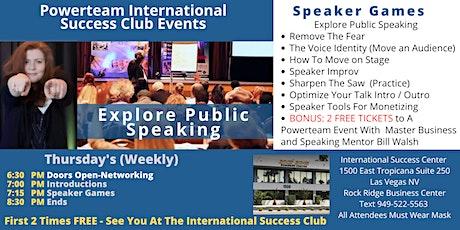 "Success Club Events-Public Speaking ""Speaker Games"" tickets"