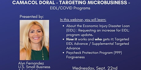 CAMACOL Doral - Targeting Microbusiness/ EIDL/COVID Programs, September 22 tickets