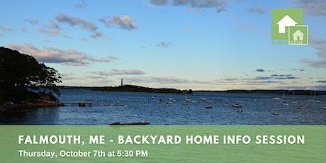 Falmouth, Me: Backyard Home Info Session tickets