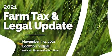 CAFA Farm Tax & Legal Update tickets