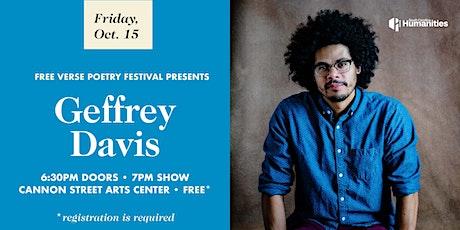 Free Verse Festival presents Geffrey Davis tickets