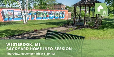 Westbrook, ME: Backyard Home Info Session tickets