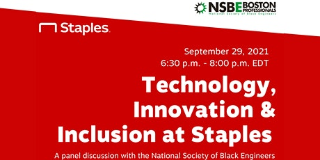 Technology, Innovation, and Inclusion at Staples Inc. tickets