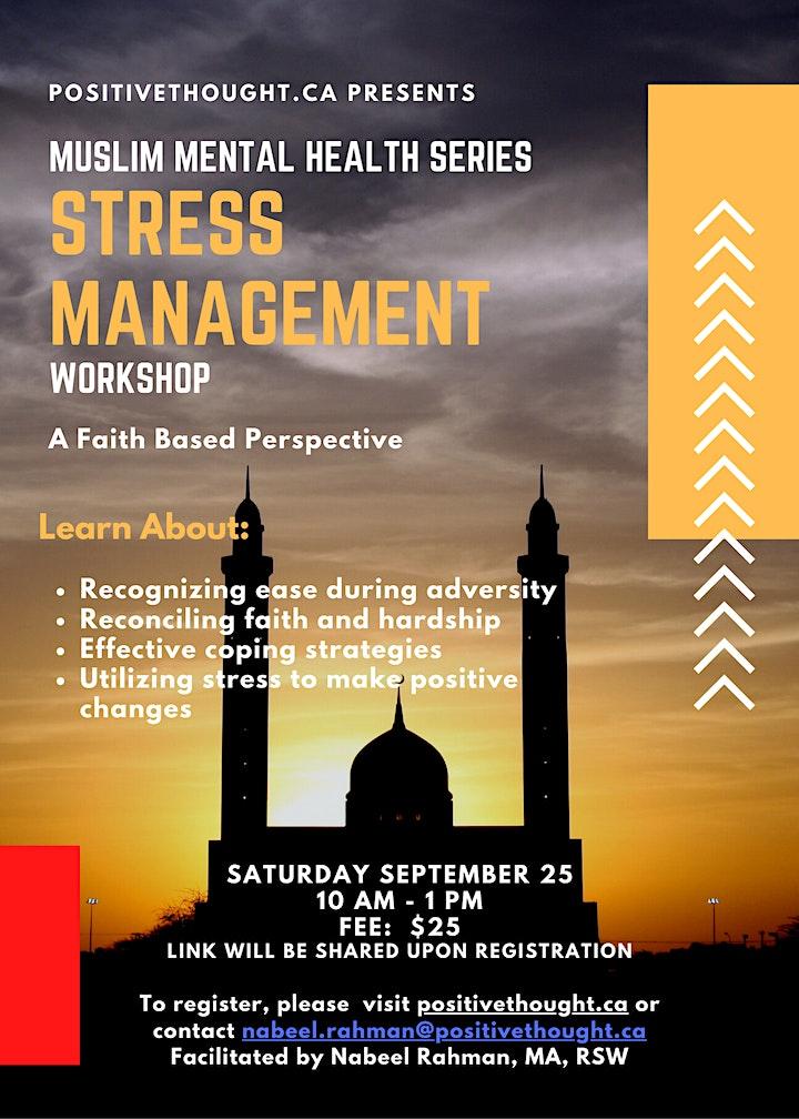 Muslim Mental Health: Stress Management Workshop image