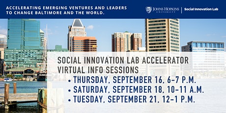 Social Innovation Lab Accelerator 2021-22 Info Sessions tickets