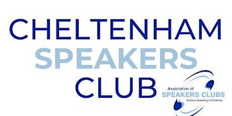 Cheltenham Speakers Club (In Person) tickets