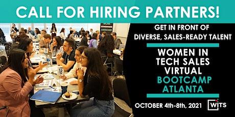 Women in Tech Sales Bootcamp Atlanta Oct  2021 - HIRING PARTNER PACKAGES tickets