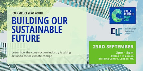 Building our sustainable future tickets