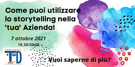 """""""NARRAZIONE D'IMPRESA""""- Come utilizzare lo Storytelling in Azienda biglietti"""