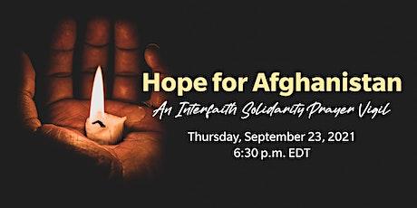 Hope for Afghanistan - Interfaith virtual Prayer Vigil ingressos