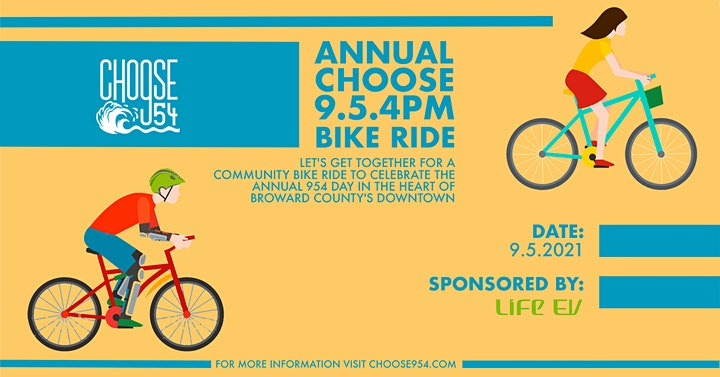 2nd Annual Choose954 Community Bike Ride On 9.5.4. Day (9/5 @ 4PM) image