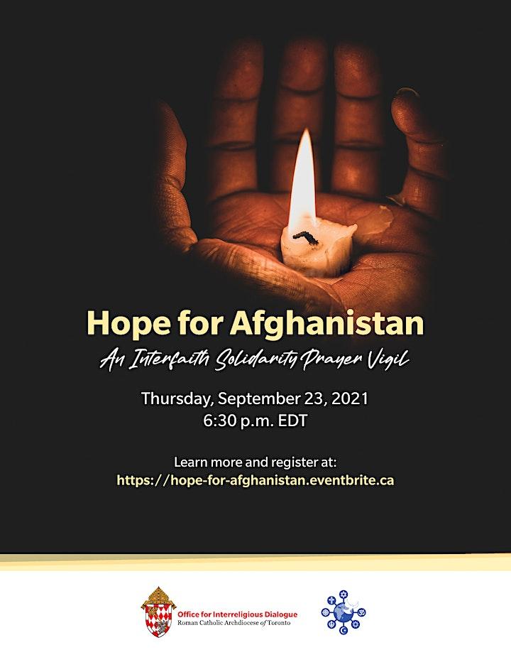 Hope for Afghanistan - Interfaith virtual Prayer Vigil image
