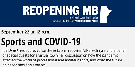 Reopening MB town hall: Sports and COVID-19 tickets