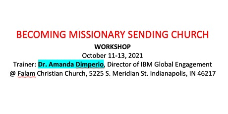BECOMING MISSIONARY SENDING CHURCH  WORKSHOP tickets