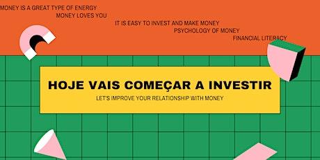 """Workshop """"Investimentos para iniciantes"""" entradas"""