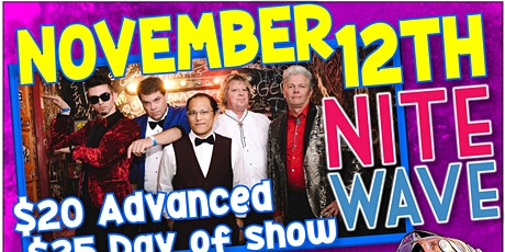 Nite Wave(Live 80's New Wave)Best80's Party Ever!(so Far) tickets