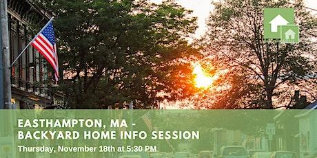 Easthampton, MA: Backyard Home Info Session tickets