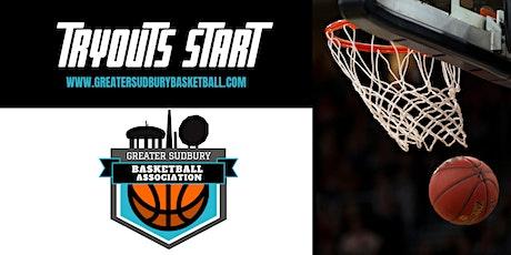 Greater Sudbury Basketball Association U-12 BOYS Tryouts 6:45PM-7:45PM tickets