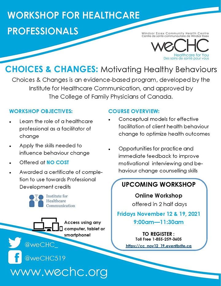 Choices & Changes: Motivating Healthy Behaviors image