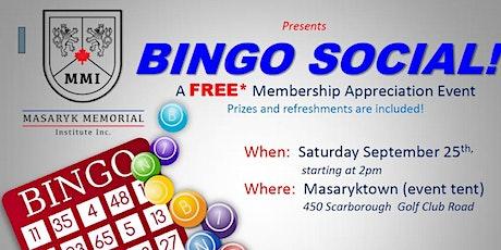 BINGO SOCIAL tickets