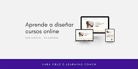 Taller básico para aprender a diseñar cursos online ingressos