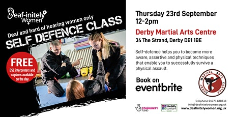 Deaf-initely Women: Self Defence Class tickets