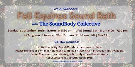 Fall Equinox Sound Bath - Live & Outdoors! tickets