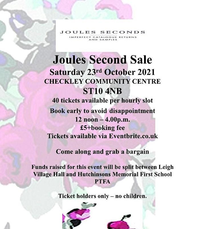 JOULES SECONDS SALE - Checkley Community Centre image