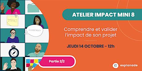 Atelier impact mini8: Comprendre et valider l'impact de son projet 2/2 billets