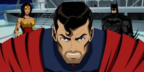 Free screening of Injustice Gods Among us Animated movie tickets